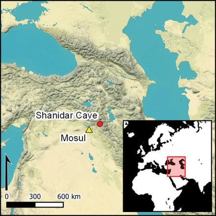 Shanidar Cave Map